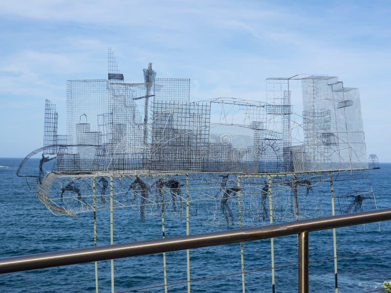 'CBD 'es ilustraciones esculturales de Barbara Licha en la escultura por los acontecimientos anuales del mar libres al público en foto de archivo libre de regalías