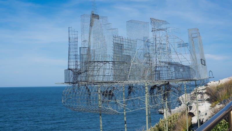 'CBD 'es ilustraciones esculturales de Barbara Licha en la escultura por los acontecimientos anuales del mar libres al público en imágenes de archivo libres de regalías