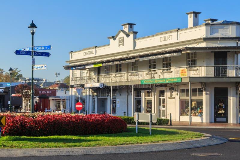 'Construção histórica da corte central 'em Cambridge, Nova Zelândia foto de stock royalty free