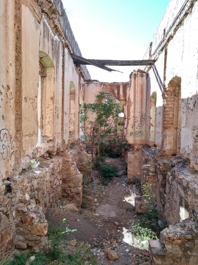 'Cuartel德比利亚'buiding的结构 库存照片