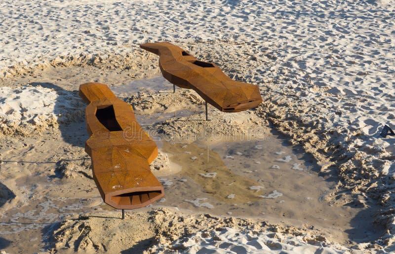 'Gene Rosa 'es ilustraciones esculturales de Robert Barnstone en la escultura por los acontecimientos anuales del mar libres al p imagen de archivo libre de regalías