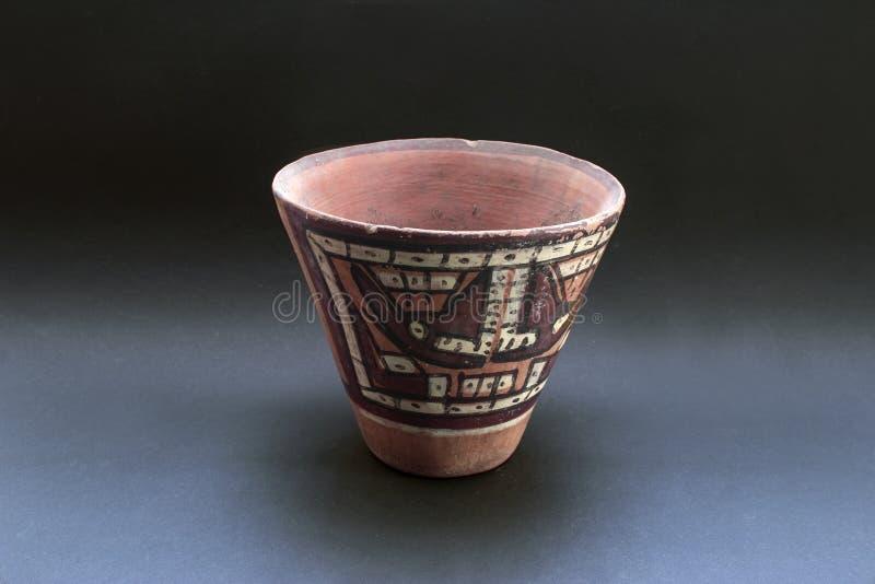'Huaco llamado de cerámica precolombino 'de Nazca foto de archivo
