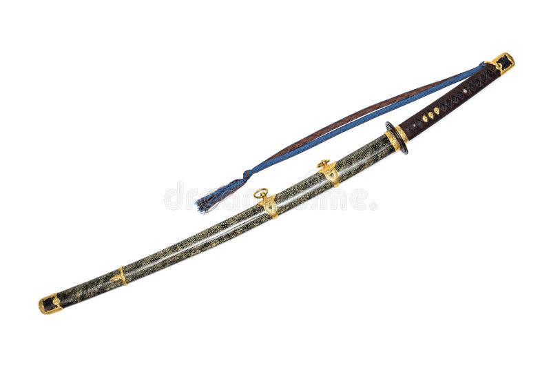 'Kai Gunto ': Marine Sword From World War japonesa 2 fotografía de archivo libre de regalías