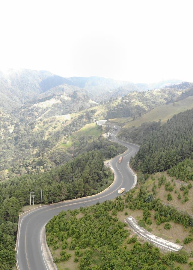 'La linea'复杂的路在哥伦比亚 免版税库存图片