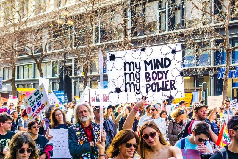 ?Meu corpo, minha escolha, sinal do meu poder ? imagens de stock royalty free