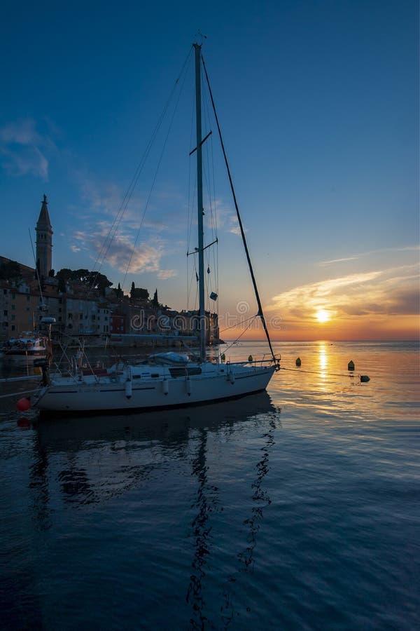 'O por do sol o mais bonito 'Rovinj imagem de stock royalty free