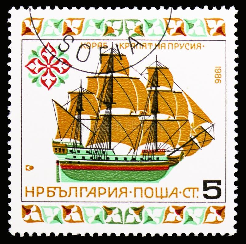 'Rei de Prússia', serie histórico dos navios (v), cerca de 1986 fotos de stock