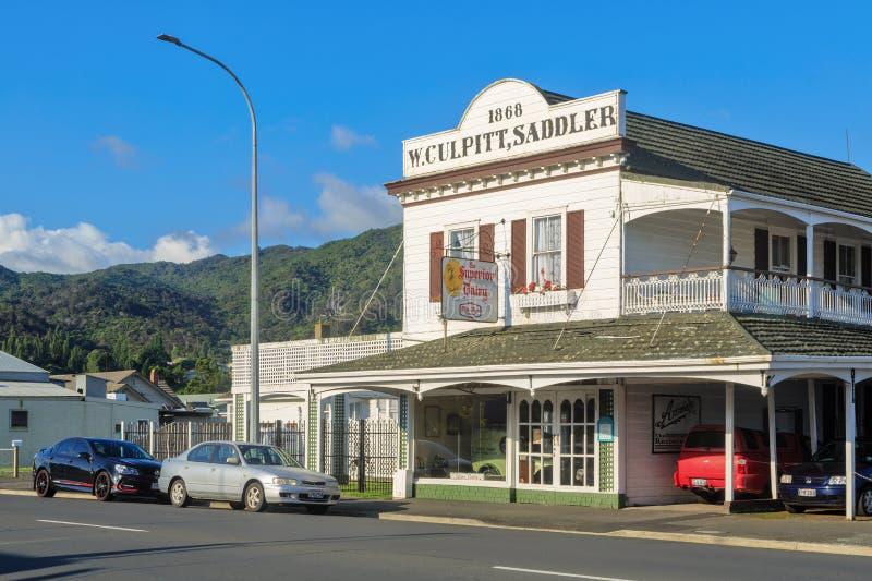 'W histórico Culpitt, construção do seleiro ', Tamisa, Nova Zelândia imagens de stock