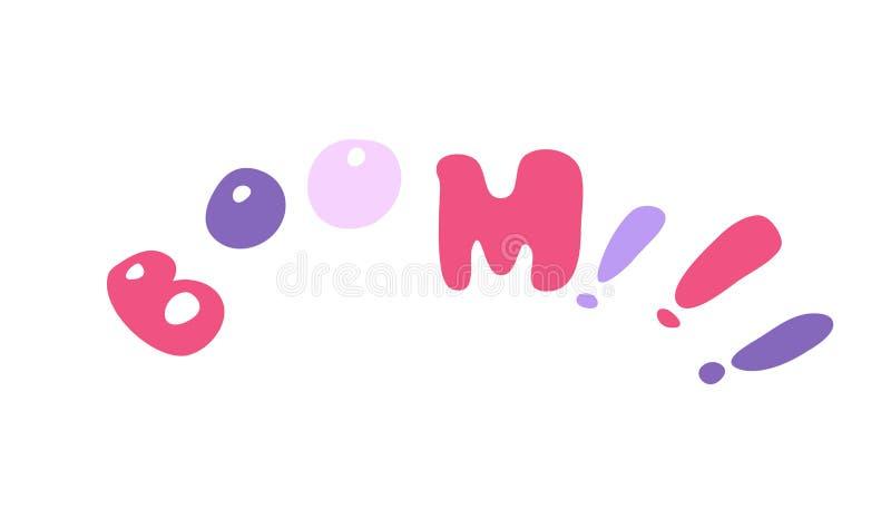 'Boom!!! '- gestileerd decoratief element royalty-vrije illustratie