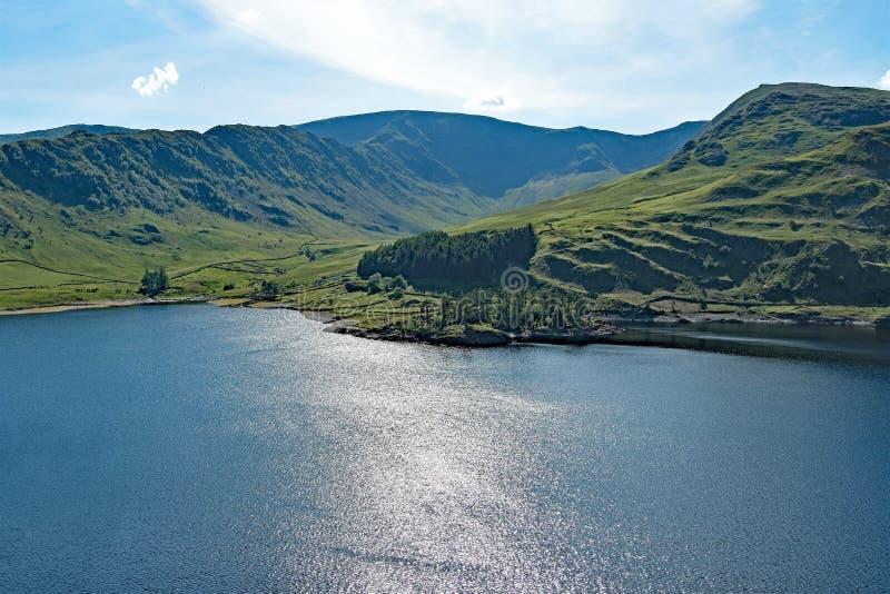 'Die Dunkelheit dort draussen 'an Haweswater-Reservoir, See-Bezirk, Cumbria lizenzfreies stockfoto