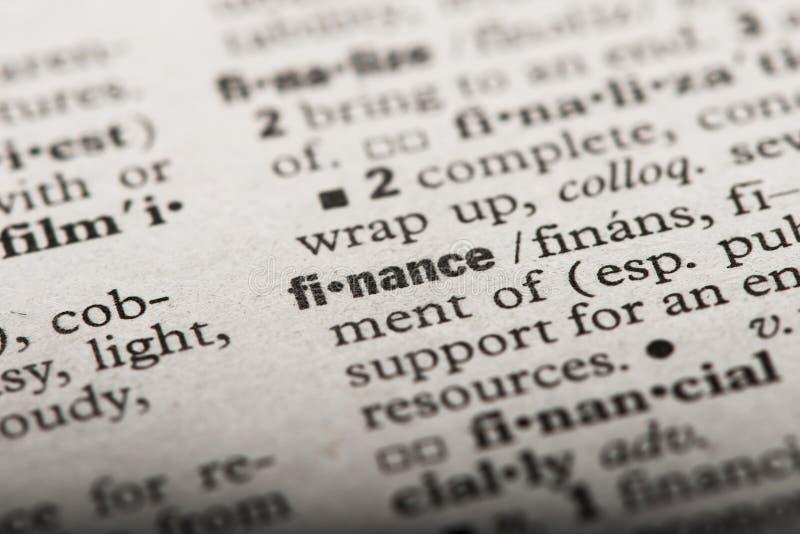 'Financiën in een Woordenboek royalty-vrije stock foto