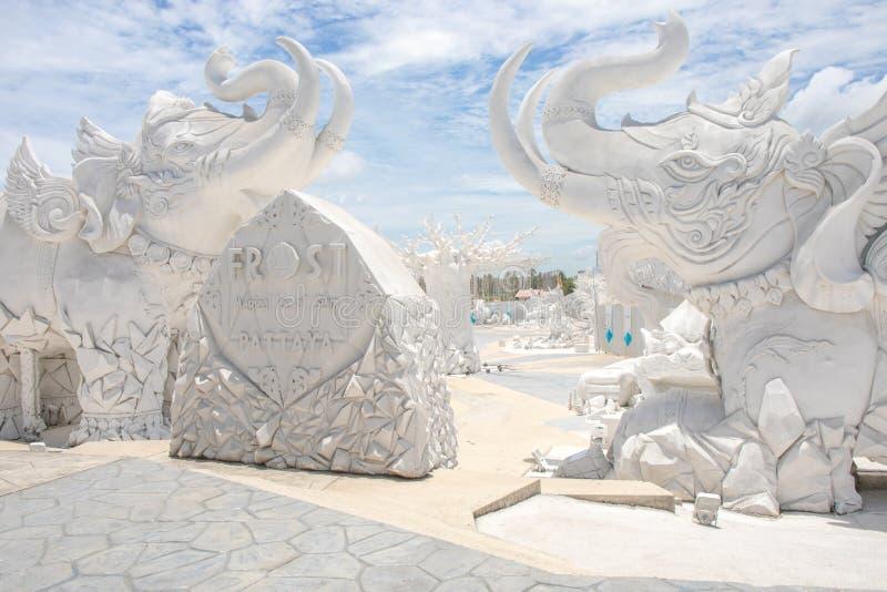 'Frost, magisches Eis von Siam 'Touristenattraktion in Pattaya Chonburi Thailand lizenzfreie stockfotografie