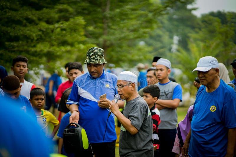 'Het offerfeest 'ook als Hari Raya Aidiladha wordt bekend is tweede van twee Moslim die celebrat stock fotografie
