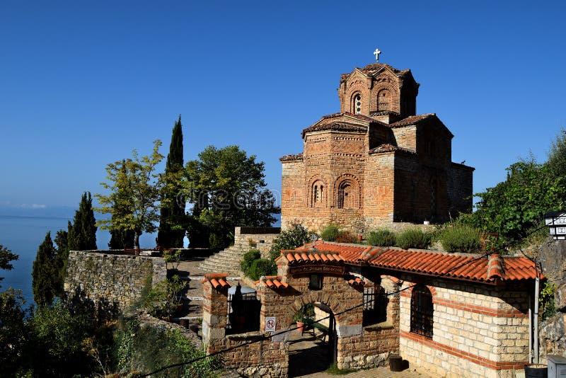 'Kerk van St John in Kaneo 'in Ohrid royalty-vrije stock foto