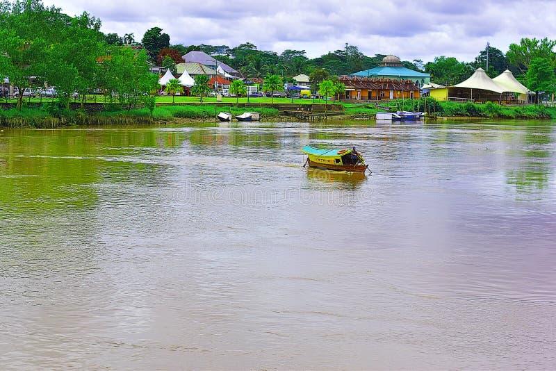 'Penambang 'of Boatman In Kuching, Sarawak royalty-vrije stock foto