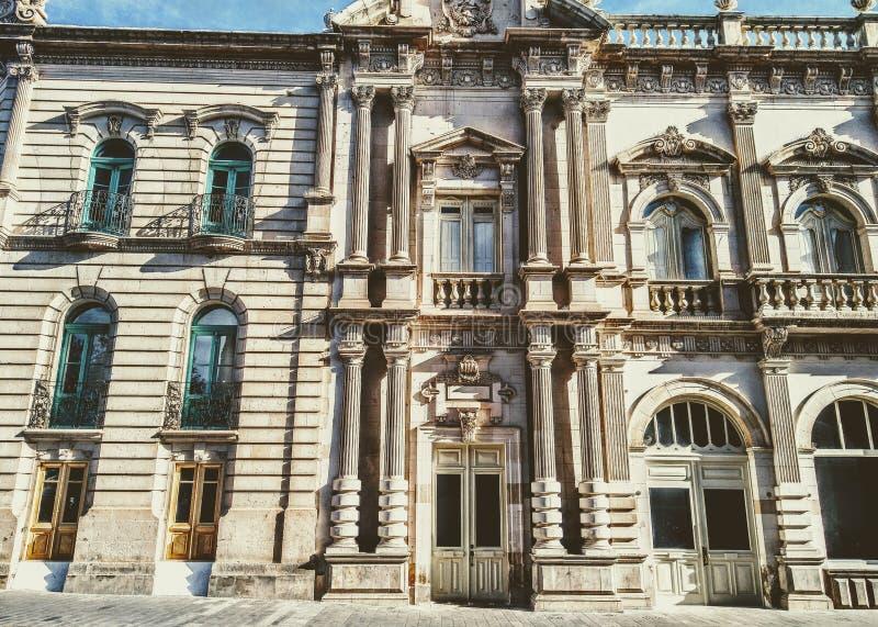 'Teatro Hidalgo die 'Hidalgo del Parral inbouwen stock foto's