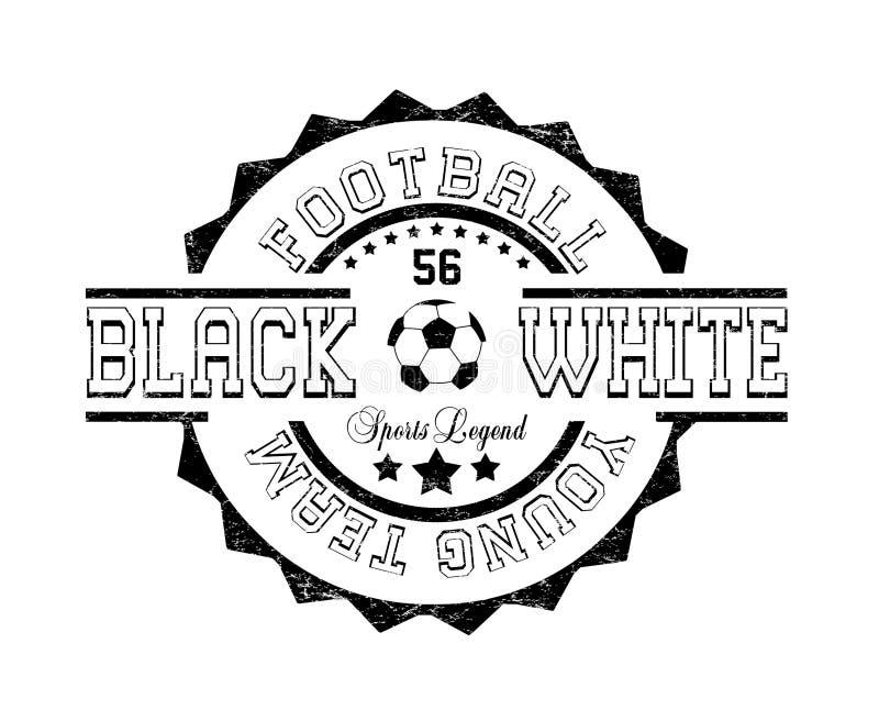 'voetbal jong team ', 'zwart wit ', 'sportenlegende ' vector illustratie
