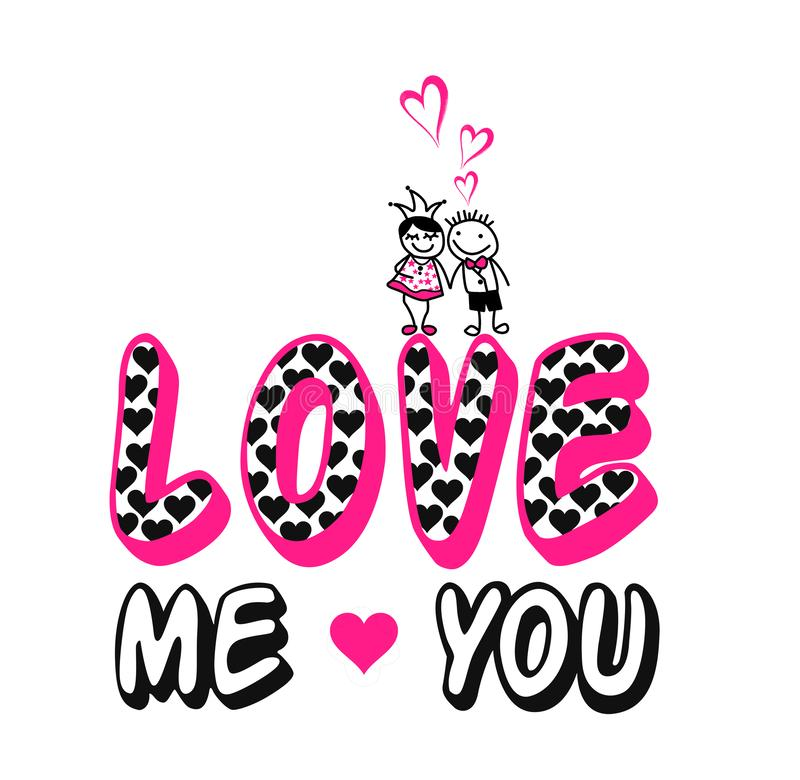 """""""με αγαπήστε εσείς """", τυπωμένη ύλη μπλουζών παιδιών & γυναικών απεικόνιση αποθεμάτων"""