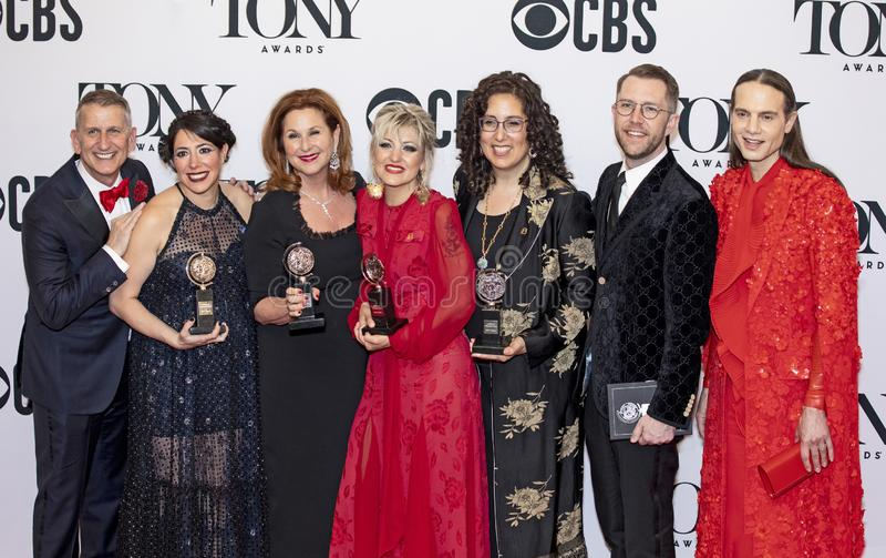 """Hadestown ""vince grande a Tony Awards 2019 fotografie stock"