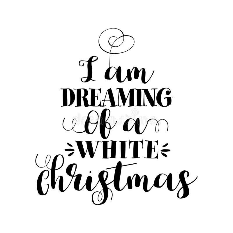 """Je rêve de Noël blanc "" illustration stock"