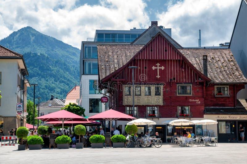"""""""La casa rossa di Rotes il Haus famoso in Dornbirn, Austria immagine stock"""