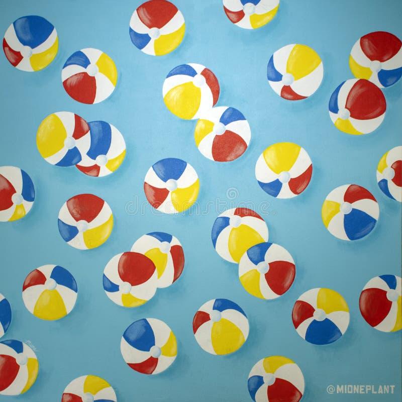 """""""Le premier mois de l'été """", une peinture murale frais-peinte par l'artiste Mione Plant situé au coeur du West Village, Dallas, l image stock"""
