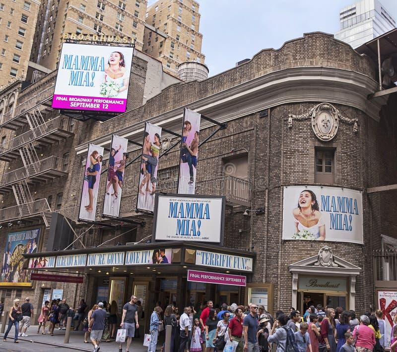 """Mamãe Mia!"" A corrida de Broadway fecha-se após uma corrida de 14 anos fotos de stock"