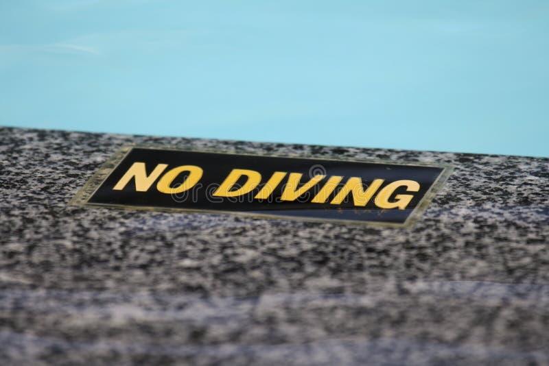 """Nenhum sinal do mergulho"" - imagens de stock royalty free"
