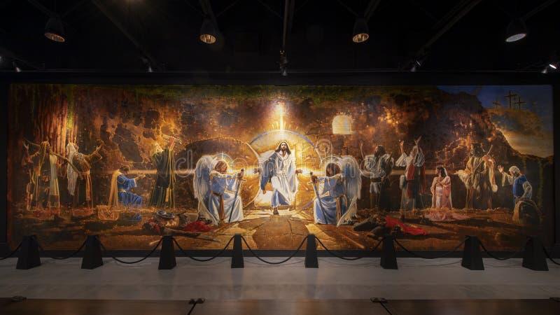 """""""Воскресение Христос """"Рон DiCianni, показанное в музее библейских искусств в Даллас, Техас стоковое изображение rf"""