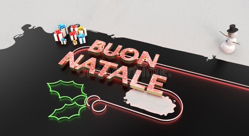 """Карта Buon Natale "" иллюстрация вектора"