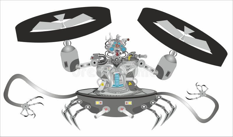 """""""Del â del robot del Cyborg de la ciencia ficción – 2 stock de ilustración"""