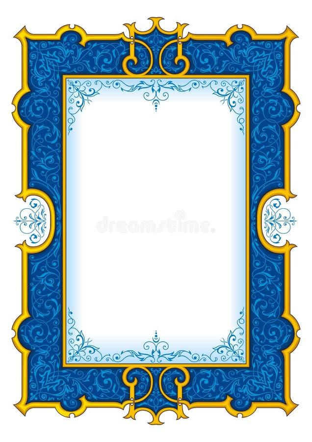 """""""Do â do quadro do vintage dos azuis marinhos – 1003 ilustração royalty free"""