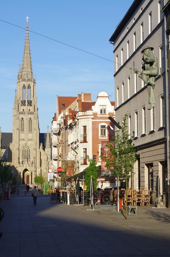 """""""Ulica Mariacka"""" in de stad van Katowice royalty-vrije stock fotografie"""