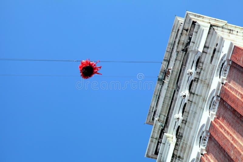 """""""Vlucht van de engel"""", Venetië, Italië stock afbeelding"""
