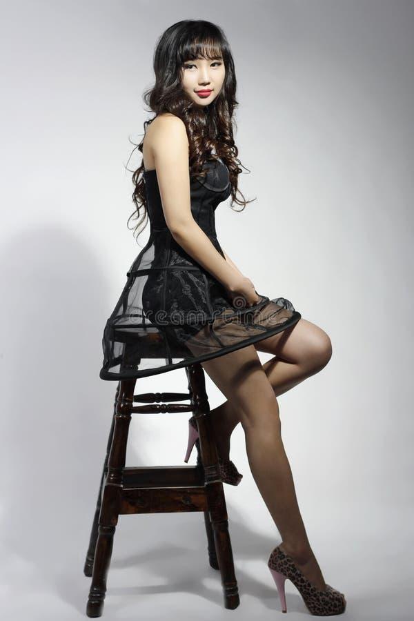 ‰ ¼ shapeï азиатского симпатичного длинного ¼ beautyï волос ˆbeautiful стоковые изображения rf