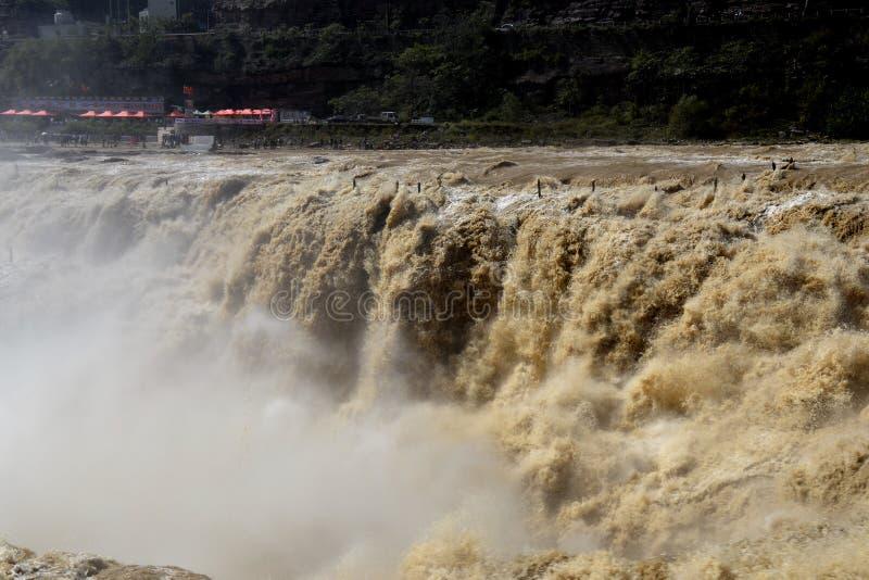 ‰ Espetacular 2 do ¼ do ˆï do ¼ do Rio Amarelo Hugo Waterfallï fotos de stock