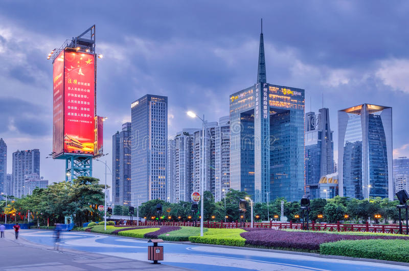 ‰ Novo do ¼ do ˆCBDï do ¼ de GuangZhou Zhujiang Townï fotos de stock royalty free