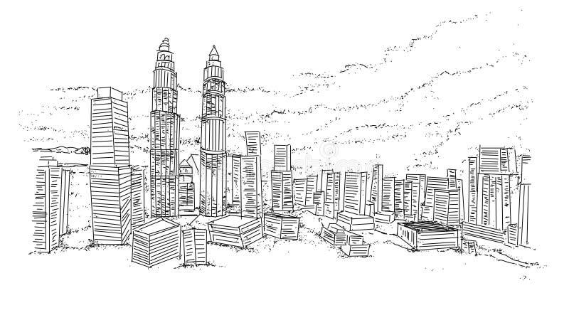 ‹Â€ ‹â€ города с небоскребами бесплатная иллюстрация