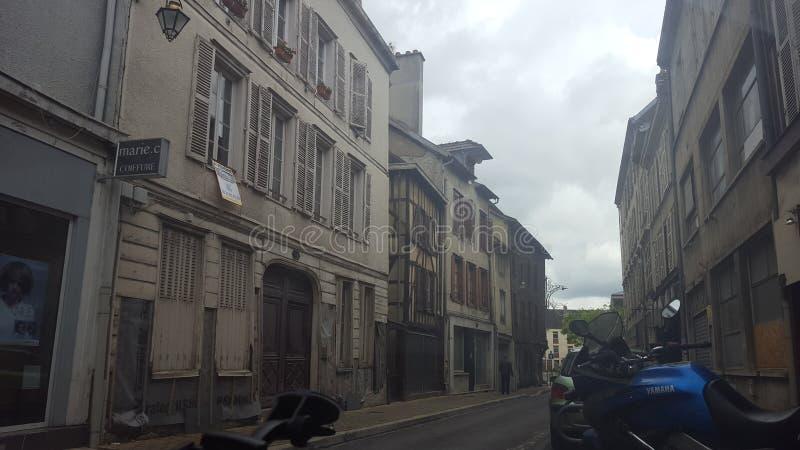 ‹del †del ‹del †de la ciudad de Troyes Francia imagen de archivo libre de regalías