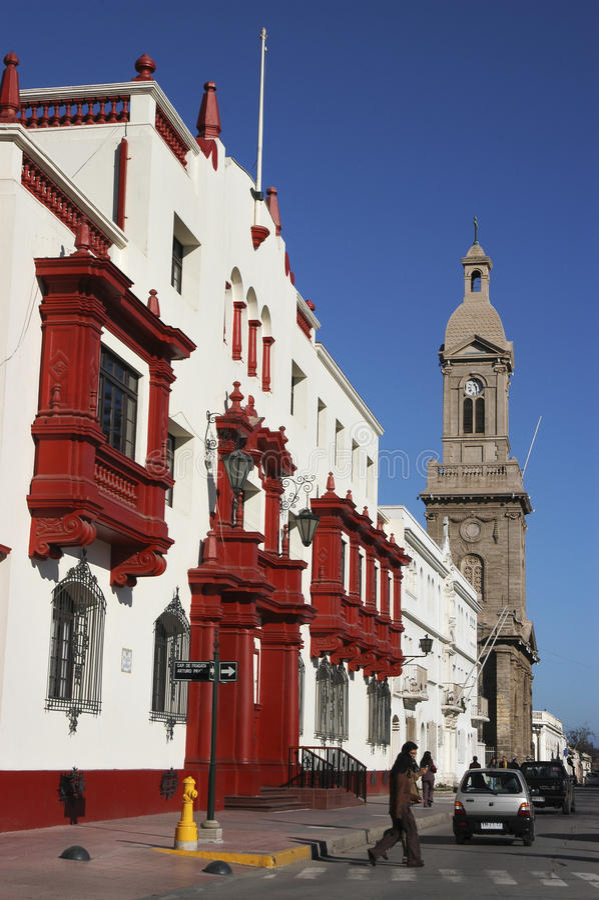 ‹Del †del ‹del †de la ciudad del La Serena Chile imagen de archivo libre de regalías