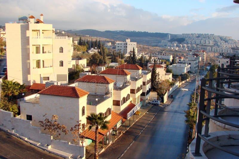 ‹Del †del ‹del †della città di Betlemme palestine I paesaggi di vegetazione del sud esotica parcheggiano le aree e le viste d fotografia stock libera da diritti