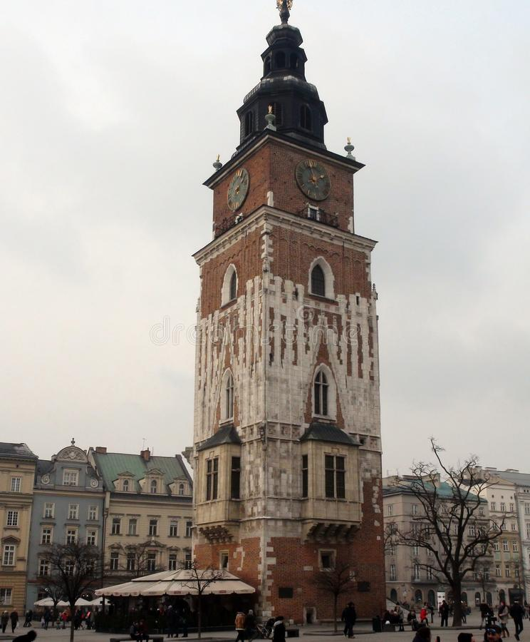 ‹Del †del ‹del †della città di Cracovia La Polonia il paesaggio delle vie antiche, delle cattedrali cattoliche e delle fortez fotografia stock libera da diritti