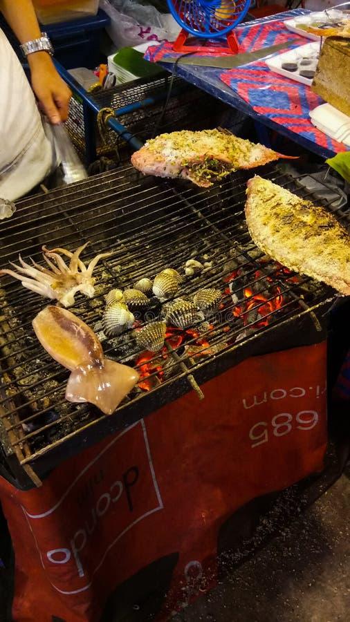 ‹Del thailand†del ‹del mai†del ‹de Chiang†del ‹del street†del ‹del on†del ‹del food†del ‹de Sea†fotografía de archivo libre de regalías