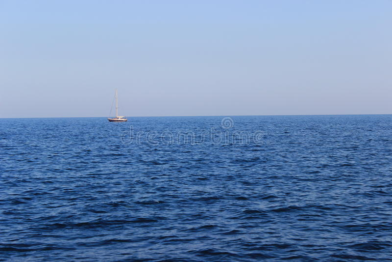 ‹E barco do †do ‹do †do mar imagens de stock royalty free