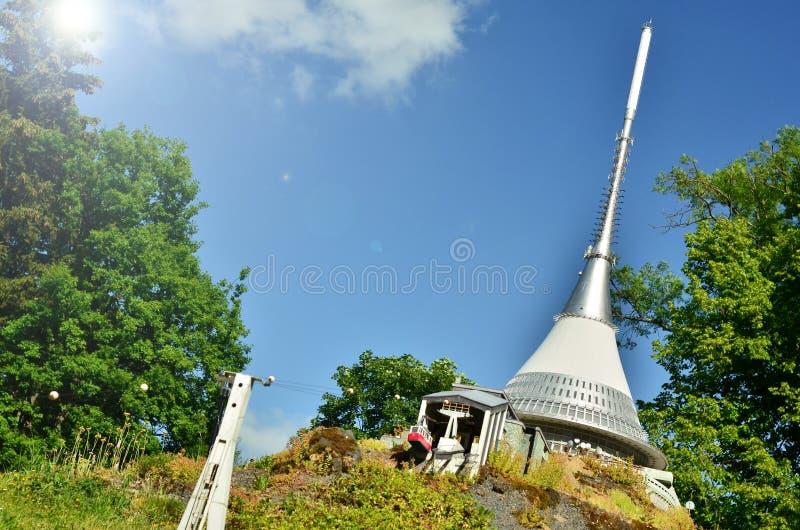 › D tÄ ¡ JeÅ, насмеханная башня стоковая фотография