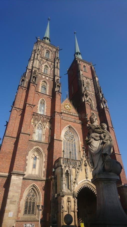 › W di Wroclaw Archikatedra Å Jana Chrzciciela immagini stock