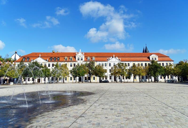 """€žDomplatz"""" собора квадратное в Магдебурге, Германии стоковые фото"""