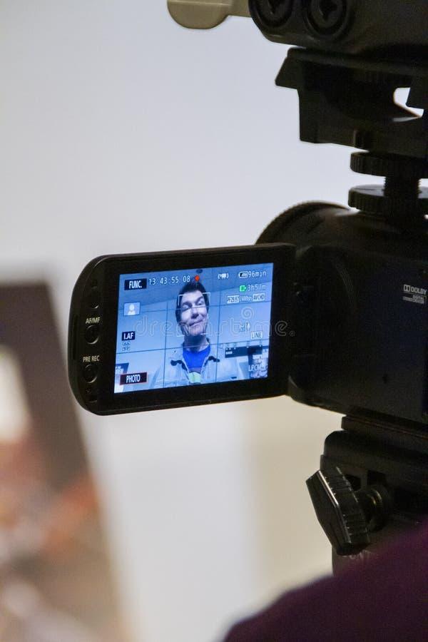 €™Connell de Jerry Oâ intereviewed à la première du règne des surhommes photos stock