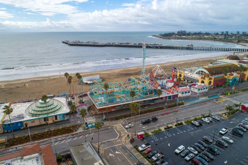 €™s de Santa Cruz Beach Boardwalkâ e o Dipper gigante foto de stock royalty free