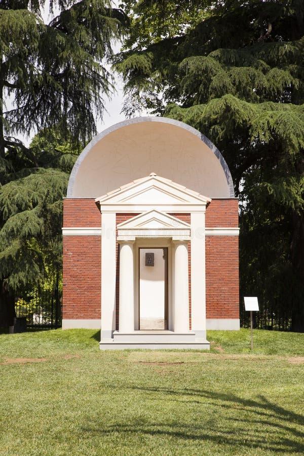 €™s paviljoen Hans Kollhoffâ voor Boog en Kunst, Milaan stock foto